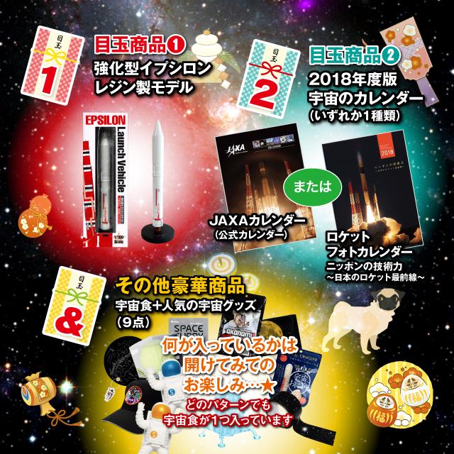 福袋 目玉商品紹介 イプシロンレジンモデル、宇宙カレンダーが必ず入っています
